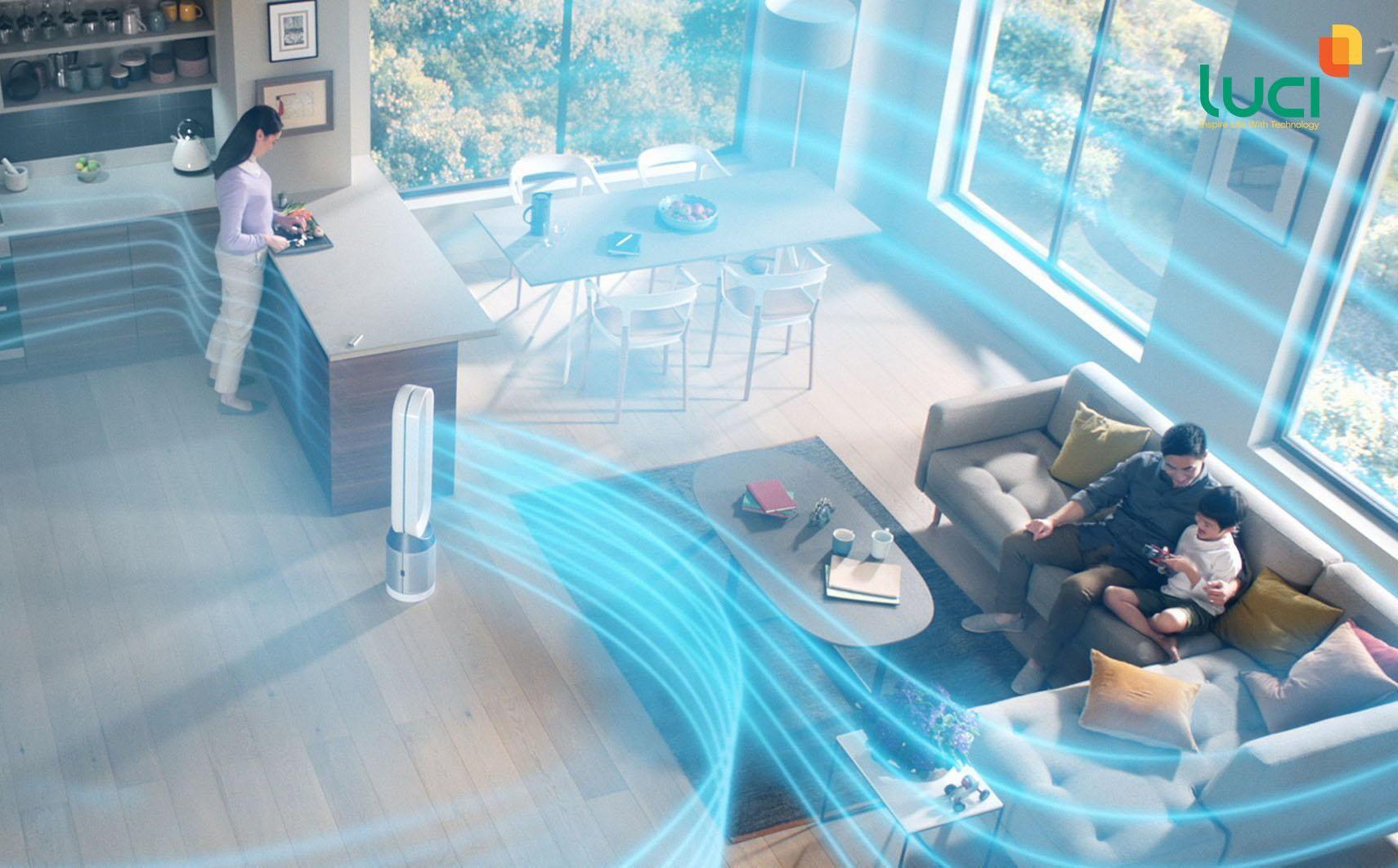 Máy lọc không khí giúp bảo vệ sức khỏe gia đình khỏi bụi bẩn
