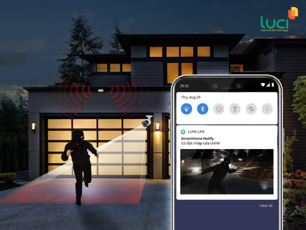 Nhà thông minh với hệ thống camera giám sát an ninh