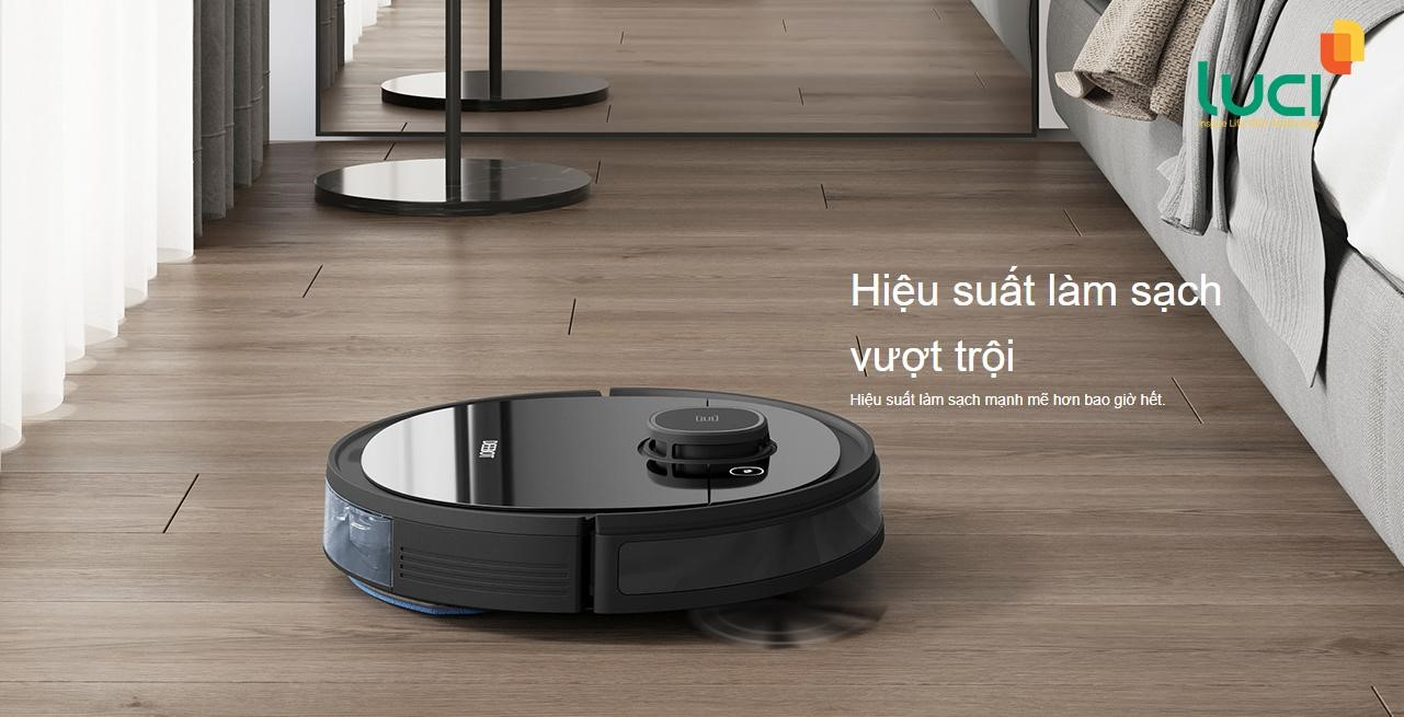 Robot lau nhà, hút bụi thông minh có khả năng làm sạch không khí