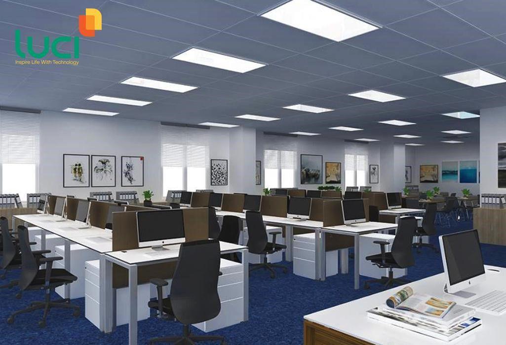 Đèn led panel tấm hình vuông, hình chữ nhật chiếu sáng văn phòng, lớp học, hội trường