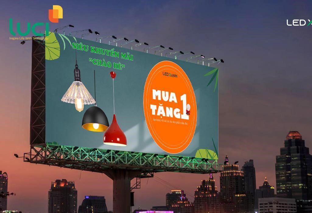 Đèn pha led chiếu sáng bảng hiệu, poster ngoài trời