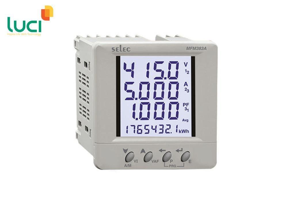 Đồng hồ đo điện năng 3 pha với màn hình LCD