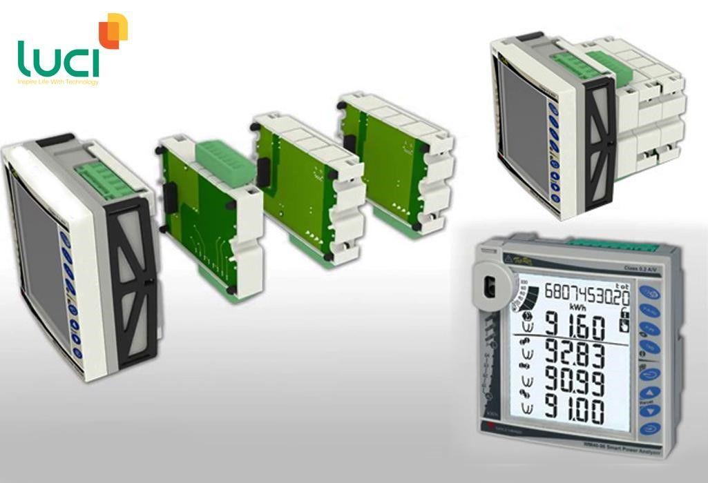 Đồng hồ đo điện năng thiết kế dạng module xếp chồng lên nhau