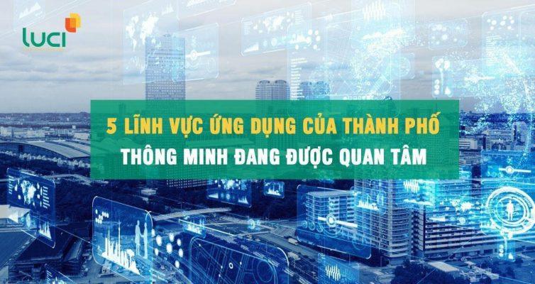 Cùng Luci tìm hiểu các lĩnh vực ứng dụng của thành phố thông minh
